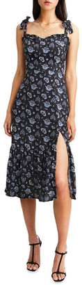 Belle & Bloom Summer Storm Navy Midi Dress