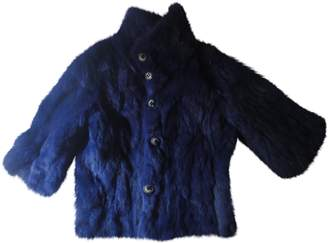 Gas Jeans Blue Rabbit Coat for Women