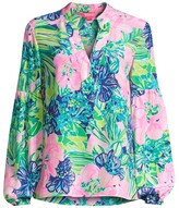 Lilly Pulitzer Shea Floral Silk Tunic