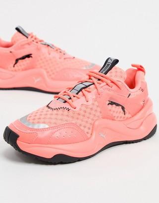 Puma Rise Glow sneakers in neon pink