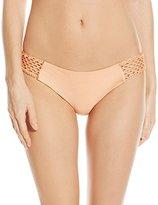Luli Fama Women's Let's Be Mermaids Crochet Loops Side Full Bikini Bottom