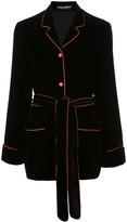 Dolce & Gabbana velvet belted blazer