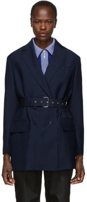 Prada Navy Double-Breasted Blazer