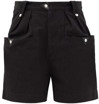 Etoile Isabel Marant Palino High-waisted Cotton Shorts - Black