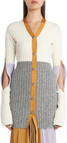 Moncler Genius 2 1952 Slit Sleeve Colorblock Rib Cardigan