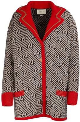 Gucci Lame knit cardigan