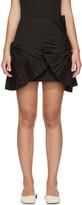 Jacquemus Black la Mini Jupe Eventail Courte Miniskirt