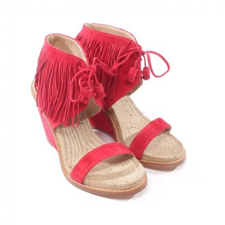 Paul Andrew Red Leather Sandals