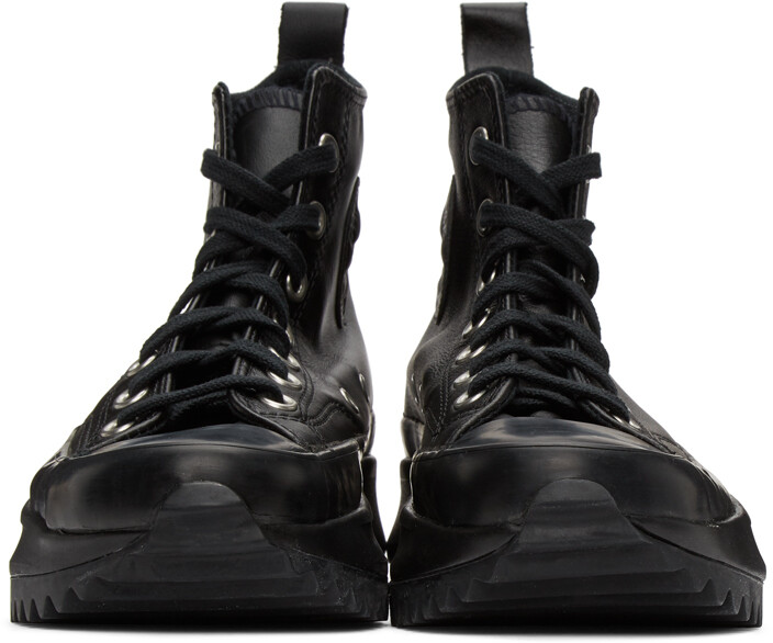 Thumbnail for your product : Converse Black Leather Run Star Hike High-Top Sneakers