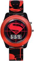 DC COMICS DC Comics Batman vs. Superman LCD Flash Dial with Printed Red Superman Watch