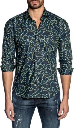 Jared Lang Regular Fit Button-Up Shirt