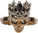 Alexander McQueen Gold and Silver Queen Ring