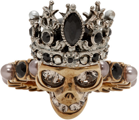 Alexander McQueen Gold and Silver Queen Ring