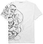 Alexander McQueen Slim-Fit Skull-Print Organic Cotton-Jersey T-Shirt