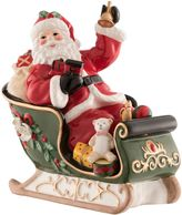 Aynsley Santa on Sleigh Musical Figurine