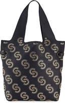 Roberto Cavalli Studded Leather Shopper Tote Bag