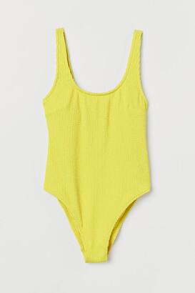 H&M High Leg Swimsuit - Yellow