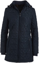 Weatherproof Women's Non-Denim Casual Jackets CLASSIC - Classic Navy Walker Diamond-Quilted Hooded Jacket - Women & Plus