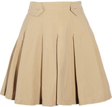 Boy By Band Of Outsiders Pleated cotton-poplin mini skirt