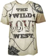 Dolce & Gabbana Off White Old Wild West Printed T-shirt