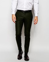 Selected Homme Wool Suit Trousers In Skinny Fit