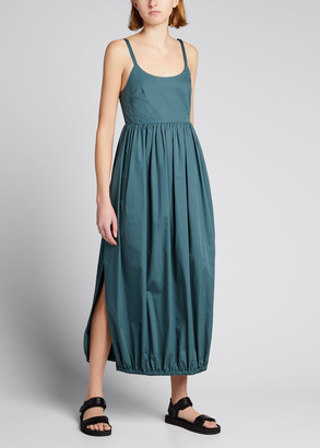 Tibi Eco Poplin Low-Back Balloon Dress