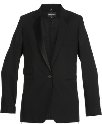Ann Demeulemeester Mono Breasted Virgin Wool Jacket