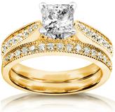 Kobelli Jewelry 1.33 CT TW Diamond 14K Gold Bridal Set Ring