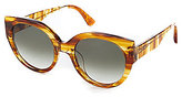 Toms Luisa Tortoise Cat-Eye Sunglasses