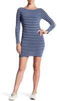 Soprano Long Sleeve Striped Mini Dress
