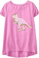 Crazy 8 Heather Purple Sequin T-Rex Knit Hi-Low Tee - Toddler & Girls