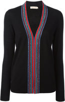 Tory Burch embellished detail cardigan - women - Merino - L