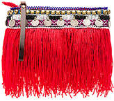 Elliot Mann Indie Beaded Pouch in Red.