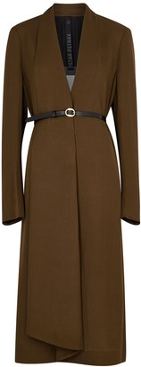 Petar Petrov Arvis brown belted twill dress