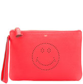 Anya Hindmarch Smiley zipped clutch - women - Calf Leather - One Size