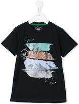 Armani Junior zebra print T-shirt - kids - Cotton/Spandex/Elastane - 4 yrs
