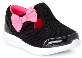 Athletic Works Bow T-Strap Athletic Sneaker (Toddler Girls)