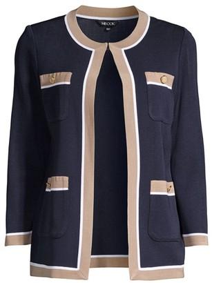 Misook Contrast Trim Knit Jacket