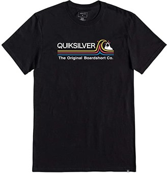 Quiksilver Stone Cold Short Sleeve Tee (Black) Men's Clothing
