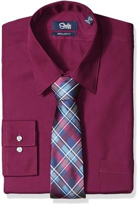 Studio 1735 Mens Dress Shirt Combo Plaid Tie Reg Fit