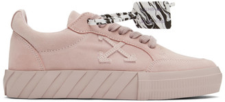 Off-White Pink Suede Vulcanized Low Sneakers
