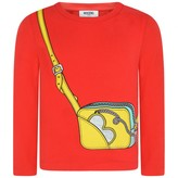 Moschino MoschinoGirls Red Bag Print Top