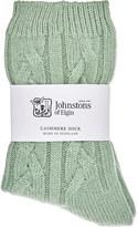 Johnstons Cable knit cashmere socks