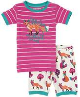 Hatley Little Blue House by Girl's Party Fox Shorts Pyjama Set