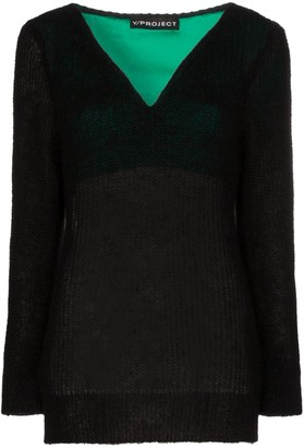 Y/Project V-Neck Knitted Jumper