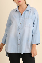 Umgee USA Washed Chambray Top