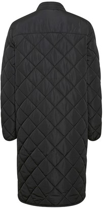 Saint Tropez Black Quilted Mid Length Coat - L