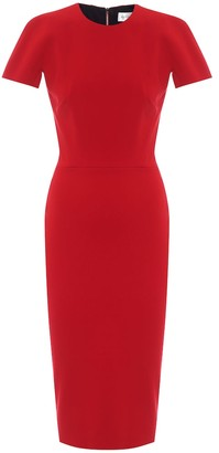 Victoria Beckham Crepe midi pencil dress