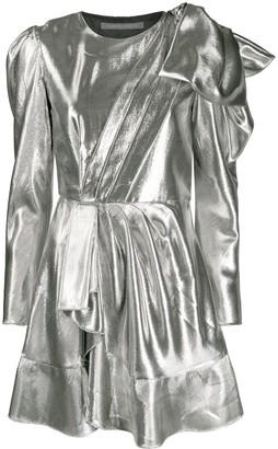 Alberta Ferretti Gathered-Detail Mini Dress
