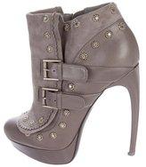 Alexander McQueen Leather Platform Booties